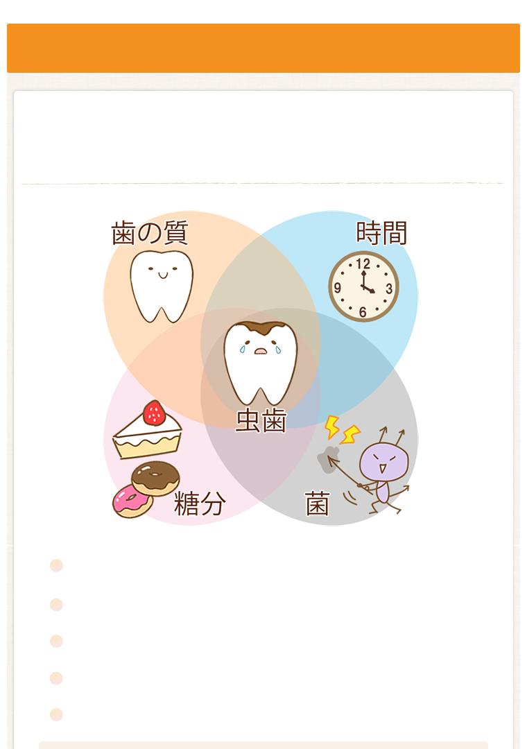 虫歯発症のメカニズム
